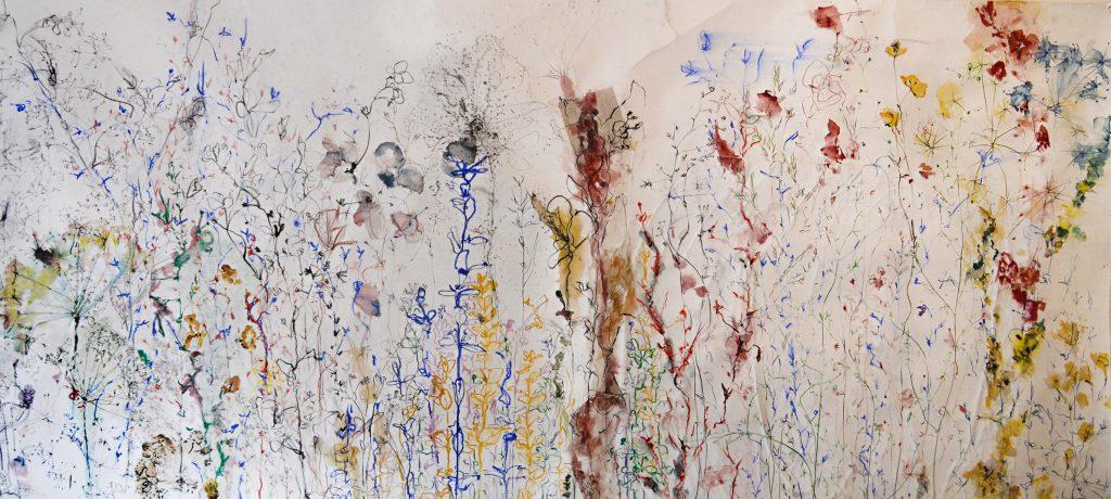 Marie Badziong, Wildwiese, 2020, 1,2 x 3,5 m