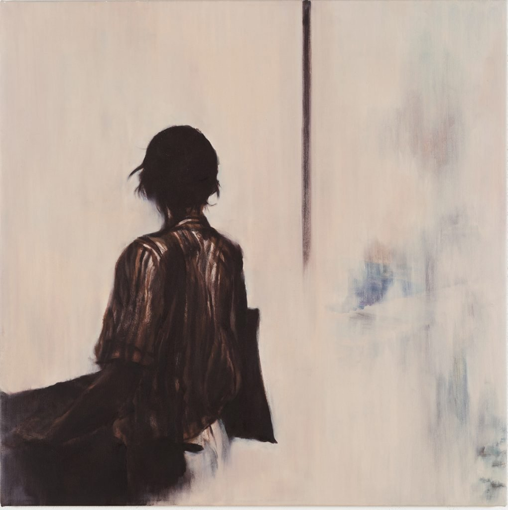 Meng-Hsuan Chin, Look into_, oil on canvas, 80x80cm, 2020