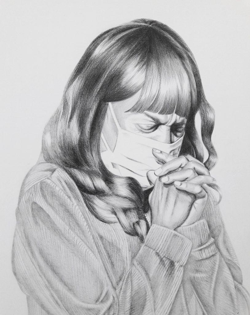 Aniko Violet, o.T., 2020, Bleistift auf Papier, 24 x 32 cm