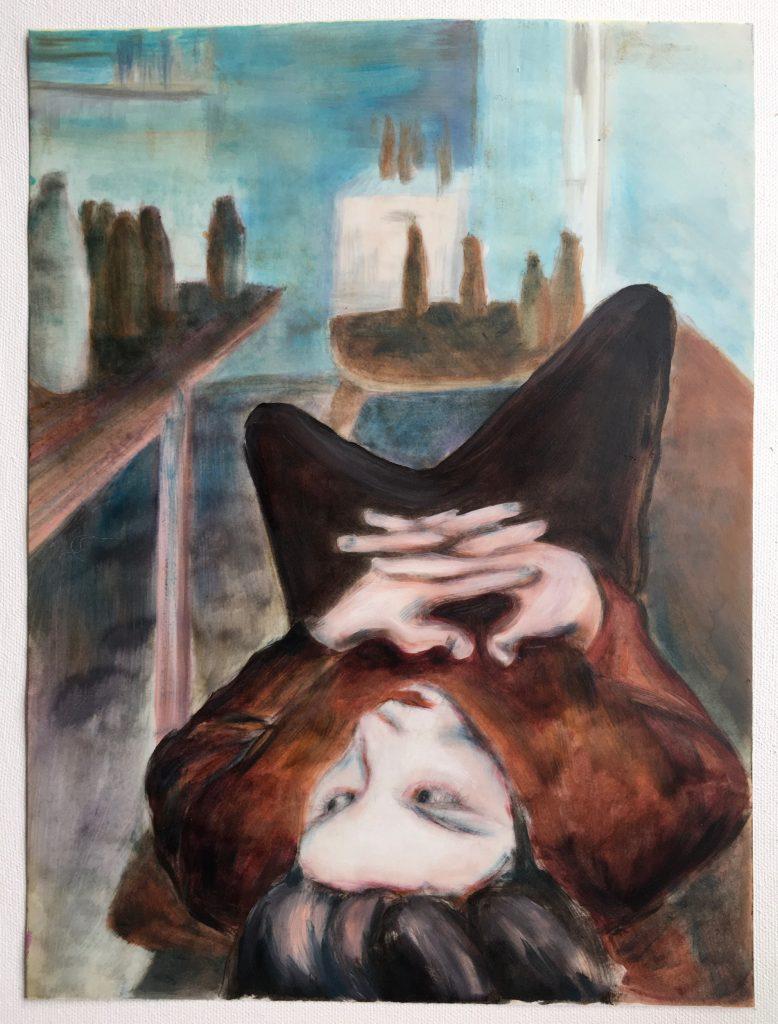 Bonnie Posch, Paul, 2021, Öl auf Papier, 29,7 x 42 cm