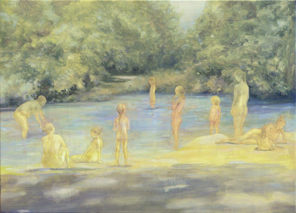 Eun Lee, Eternal Summer, 2020, oil on canvas, 65x90cm