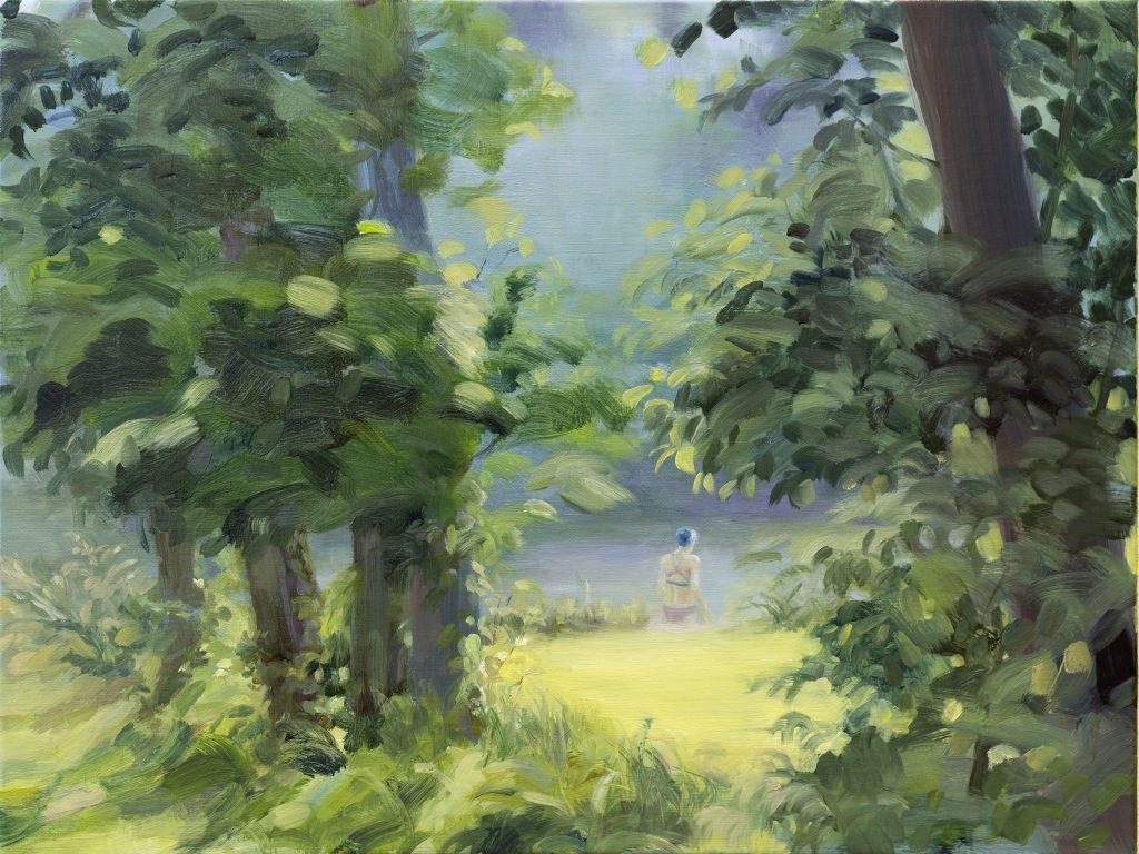 Eun Lee, Her World, 2021, oil on canvas, 45x60cm