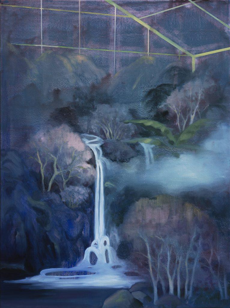 Eun Lee, Landscape in between, 2020, oil on canvas, 60x80cm