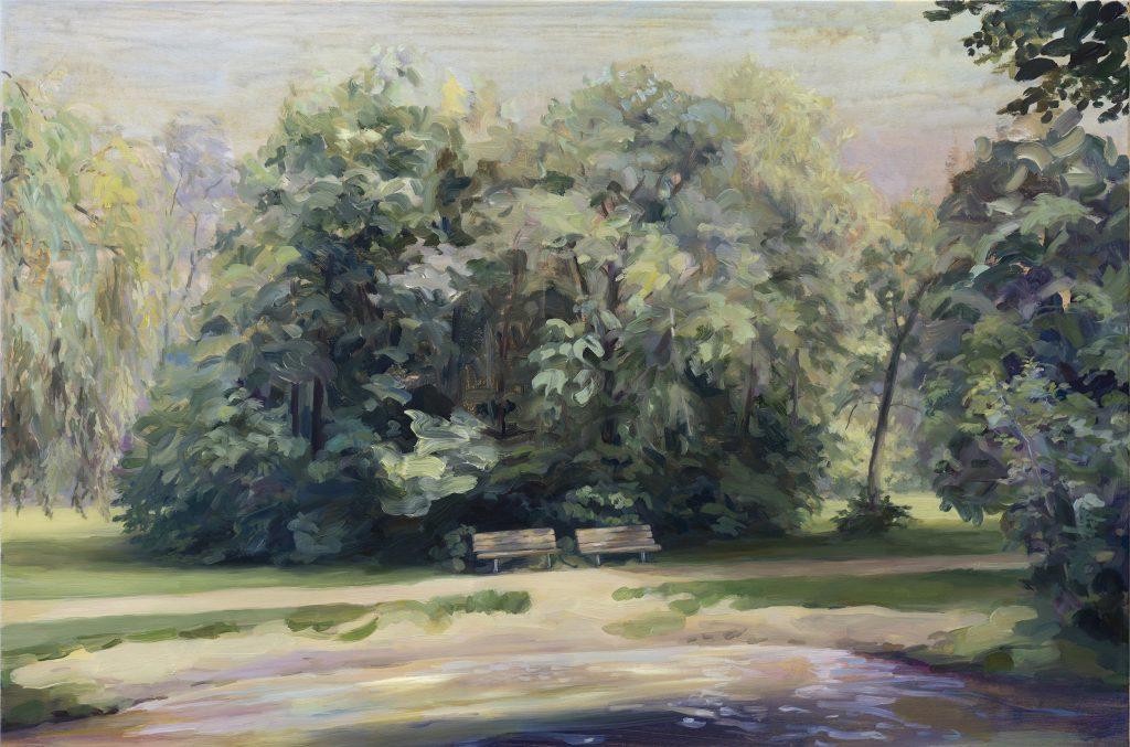 Eun Lee, Lethe, 2021, oil on canvas, 90x120cm