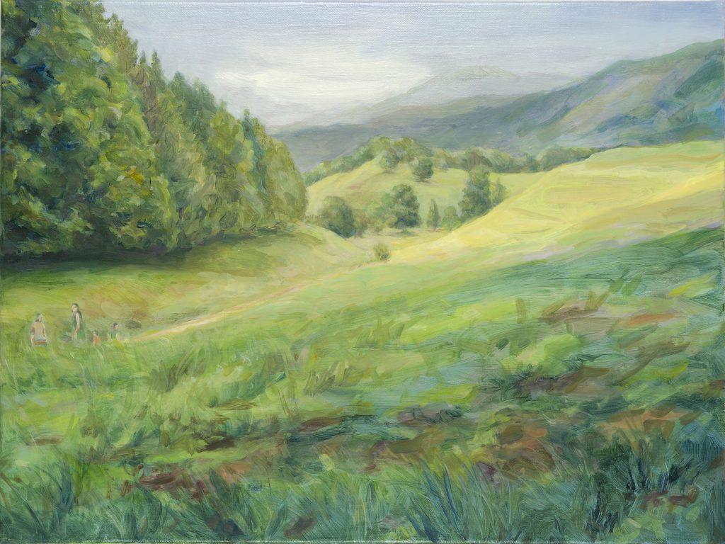Eun Lee, Motherhood, 2021, oil on canvas, 45x60cm