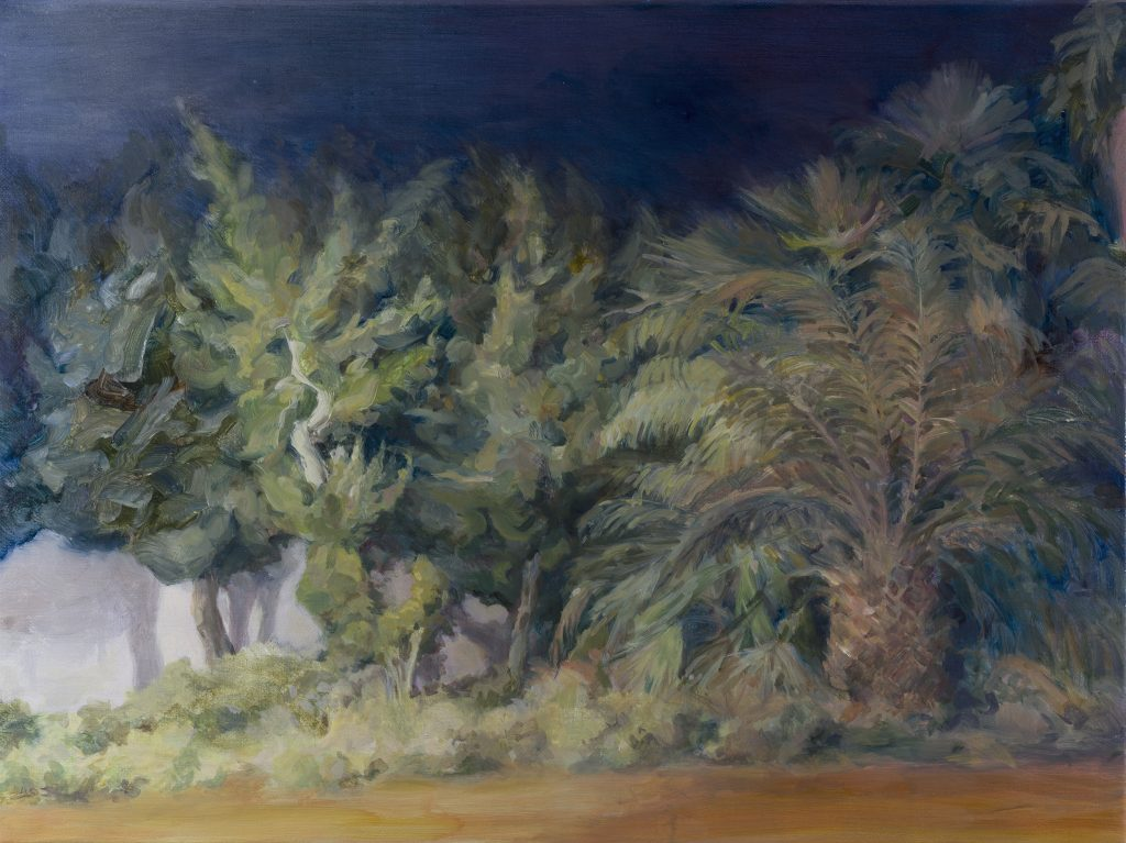Eun Lee, Night Walk, 2021, oil on canvas, 45x60cm