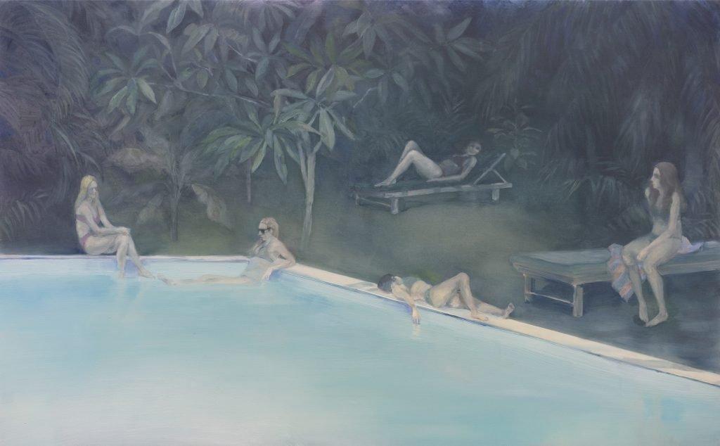 Eun Lee, Retreat, 2020, oil on plexiglass, 50x70cm