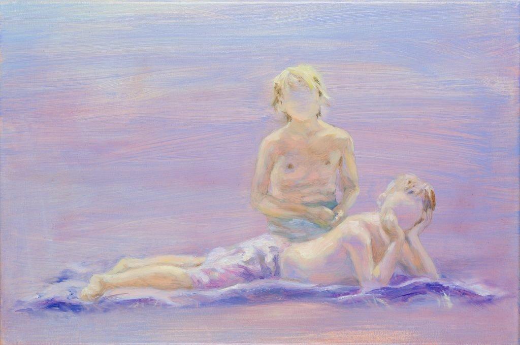 Eun Lee, The Flow, 2021, oil on canvas, 30x45cm