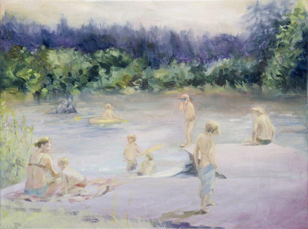 Eun Lee, Untitled, 2021, oil on canvas, 45x60cm
