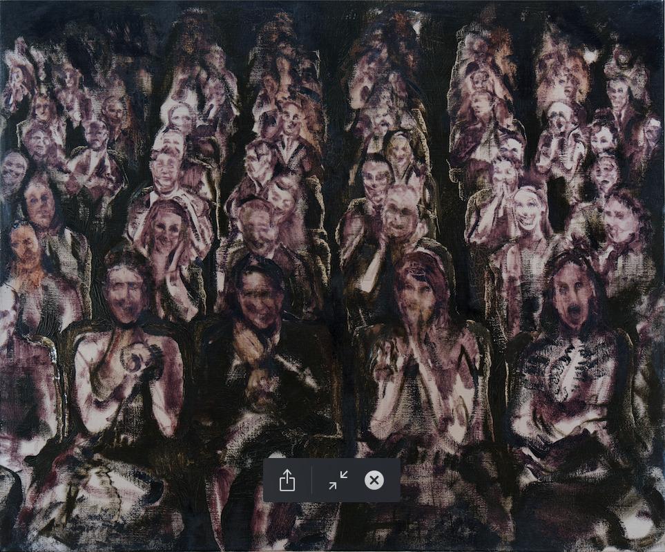 Felix Waldherr, Applaus, 2014, Öl auf Leinen, 120 x 100 cm