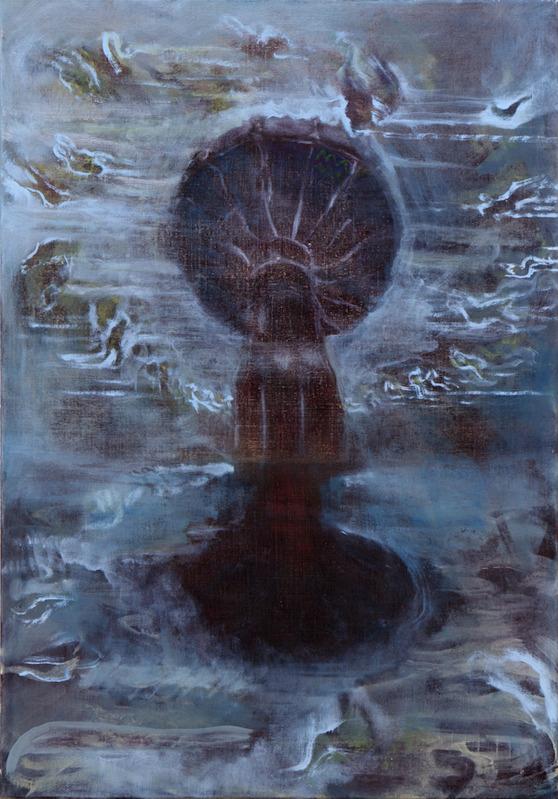 Felix Waldherr, Karussell (gespiegelt), 2019, Öl auf Leinen, 100x70 cm