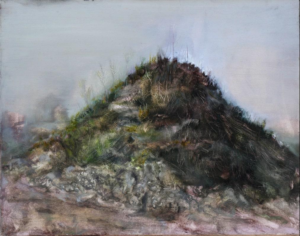 Felix Waldherr, Shithill, 2013, Öl auf Baumwolle, 70x55 cm