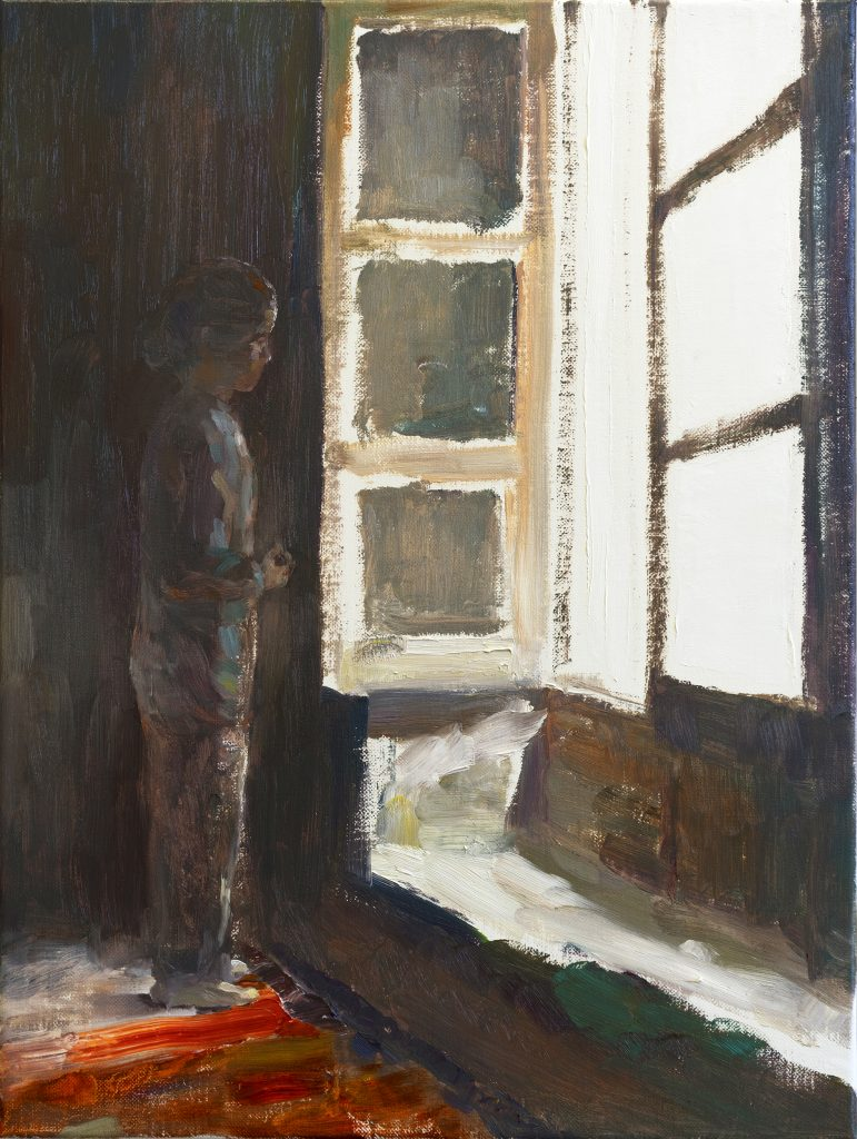 looking from the first floor, 60 x 40 cm, oil on canvas, 2021