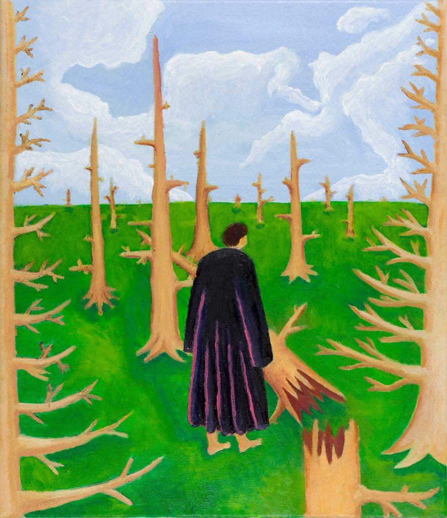 Jimmy Vuong, GLEICH GERICHTET, 2020, Öl auf Leinwand, 52 x 45 cm