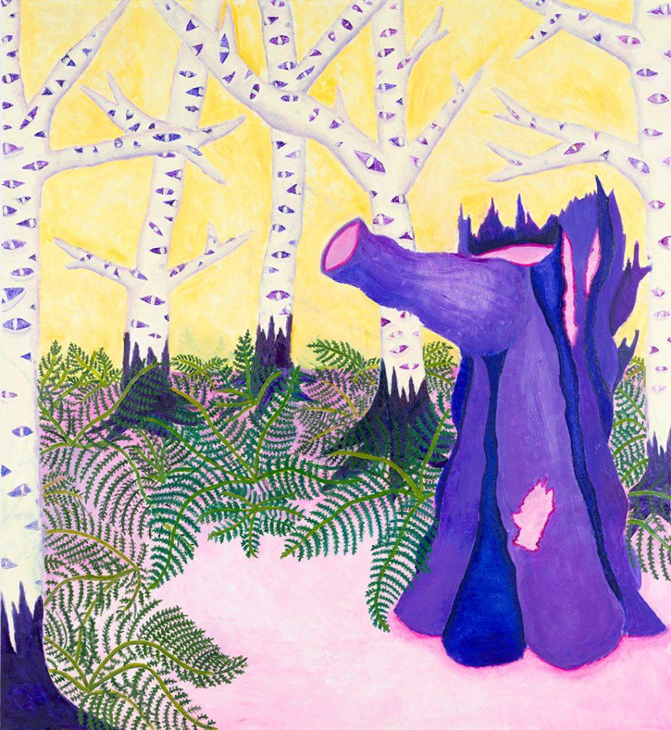 Jimmy Vuong, IN DIE SCHWAMMEL GEHEN, 2020, Öl auf Leinwand, 160 x 146 cm