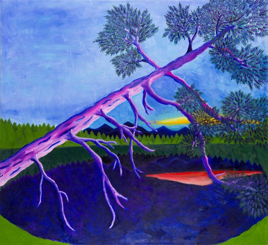 Jimmy Vuong, OSTERSEE, 2020, Öl auf Leinwand, 160 x 146 cm
