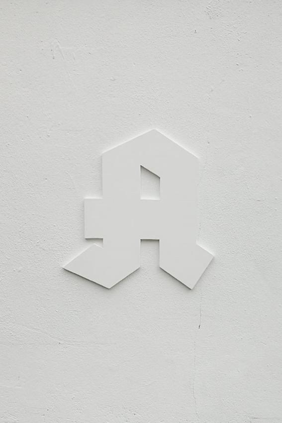 Julius Jurkiewitsch, _ _ _ _ _ _ A (Detail), 2019, Mixed Media, Maße variabel, AdBK Nürnberg (Foto: Julia Himmelhuber)