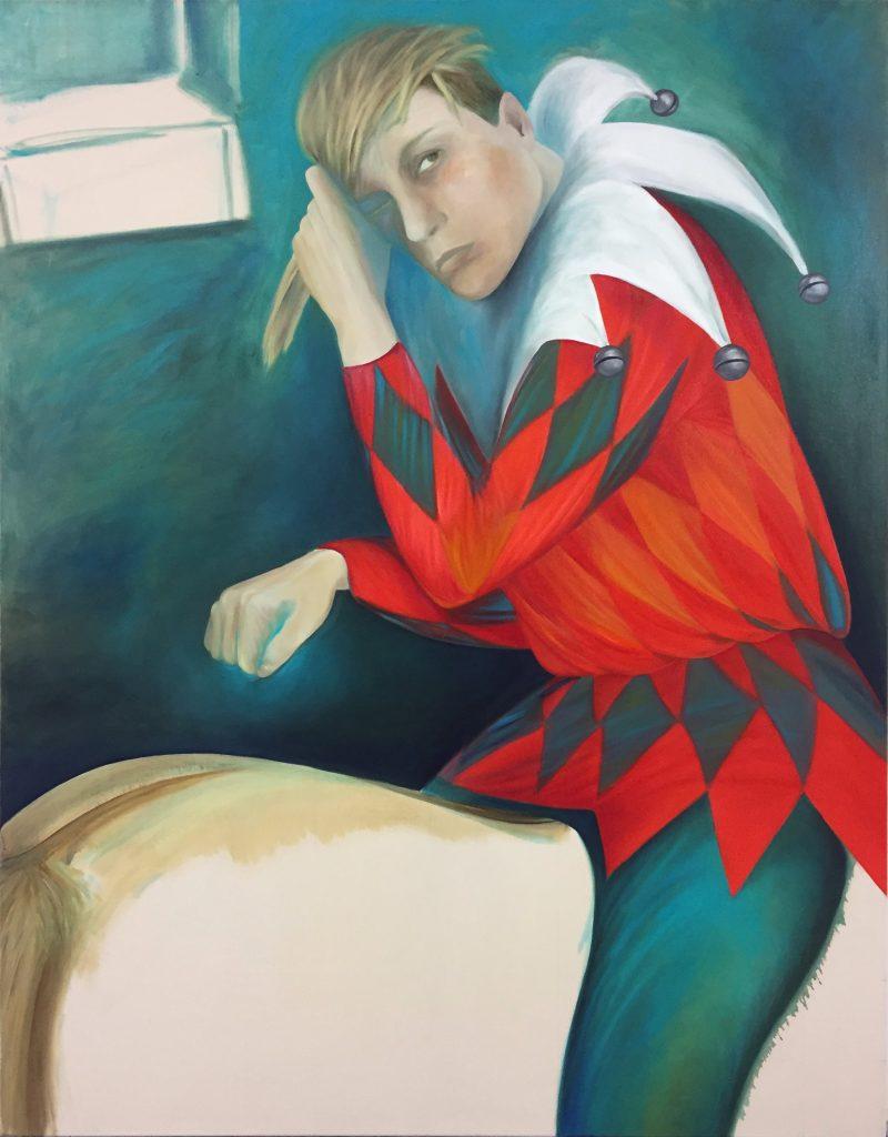 """""""Joker"""" (2020), Öl auf Leinwand, 155 x 119 cm"""