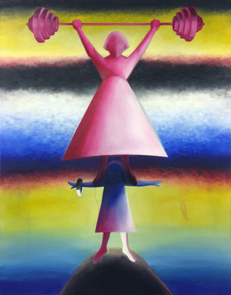 """Mother"" (2021), Öl auf Leinwand, 155 x 119 cm"
