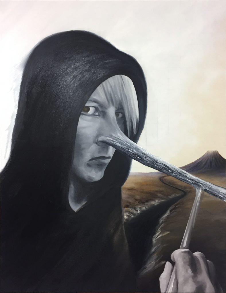 """Pinocchio"" (2020), Öl auf Leinwand, 110 x 85 cm"