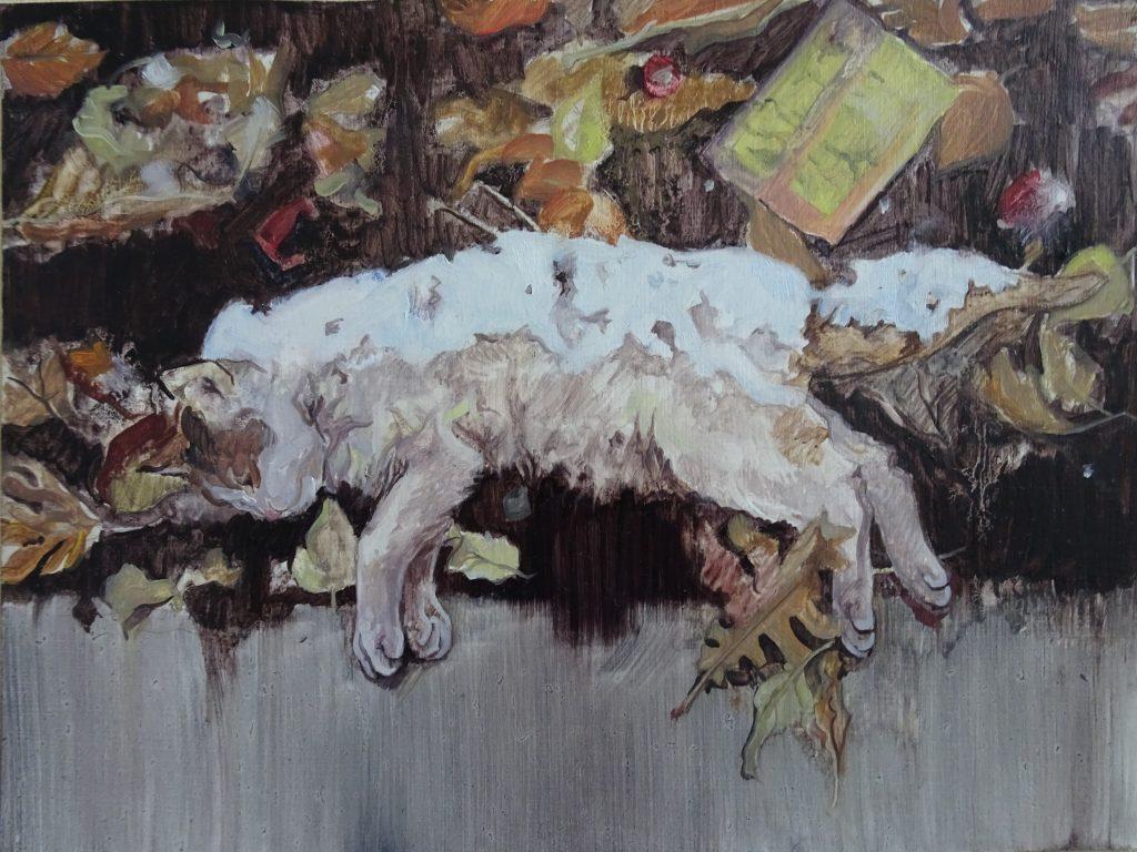 Adrine Ter-Arakelyan, James Bryce Street, 2020, Öl auf Karton, 20x15cm