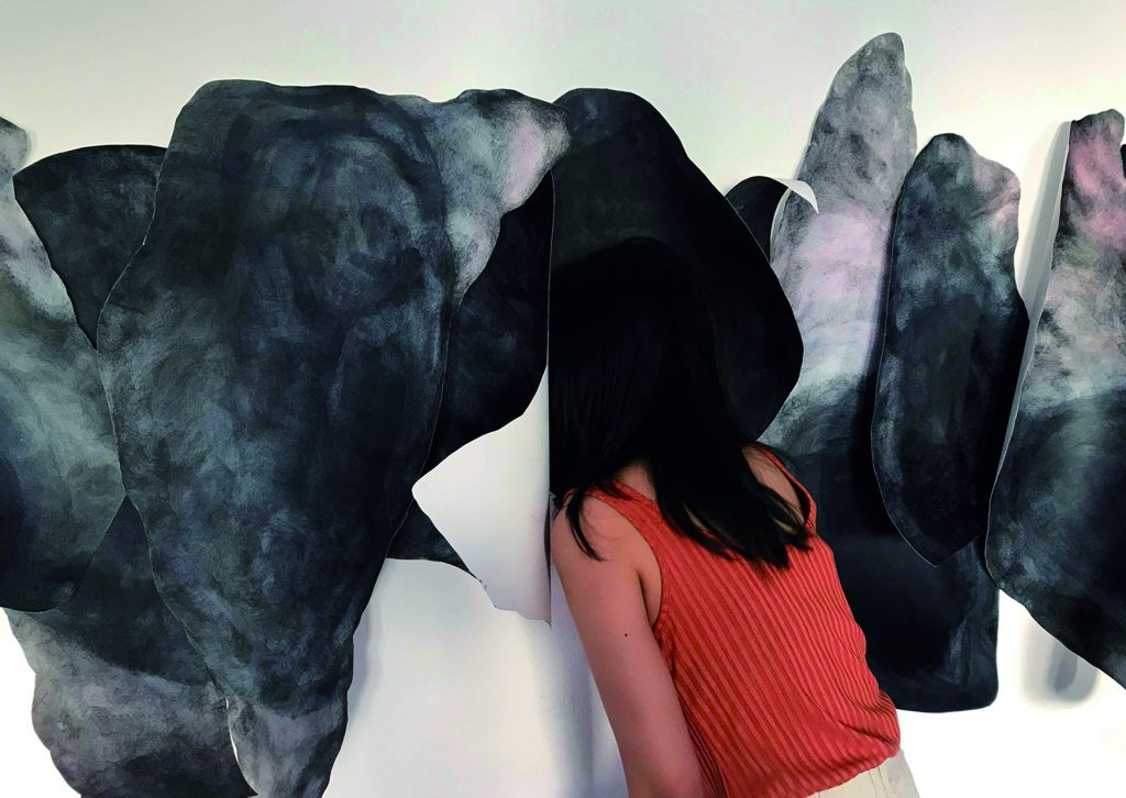 Cheng-Hsin Chiang, The breath, 2018, Acryl and ink on paper, Dimensions variable