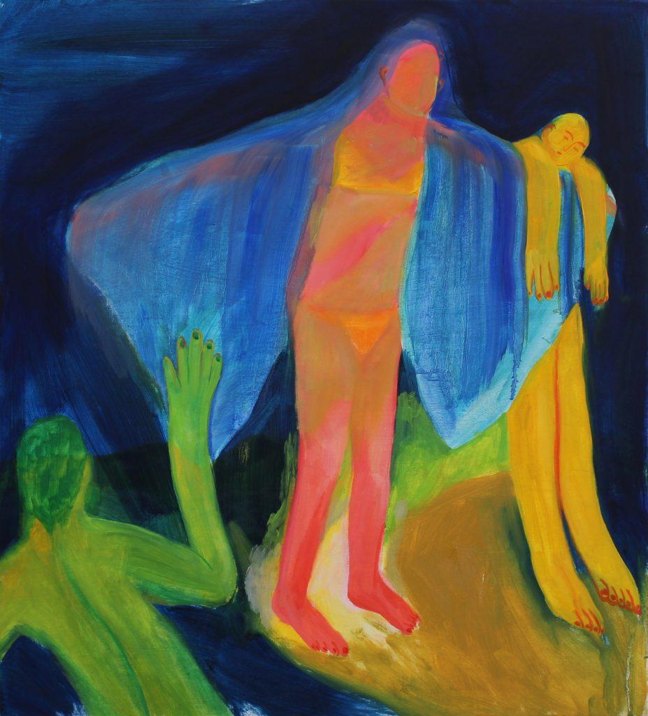 Hyun Jeong, 2021, Imaginary Friend, oil on wood, 80x72 cm