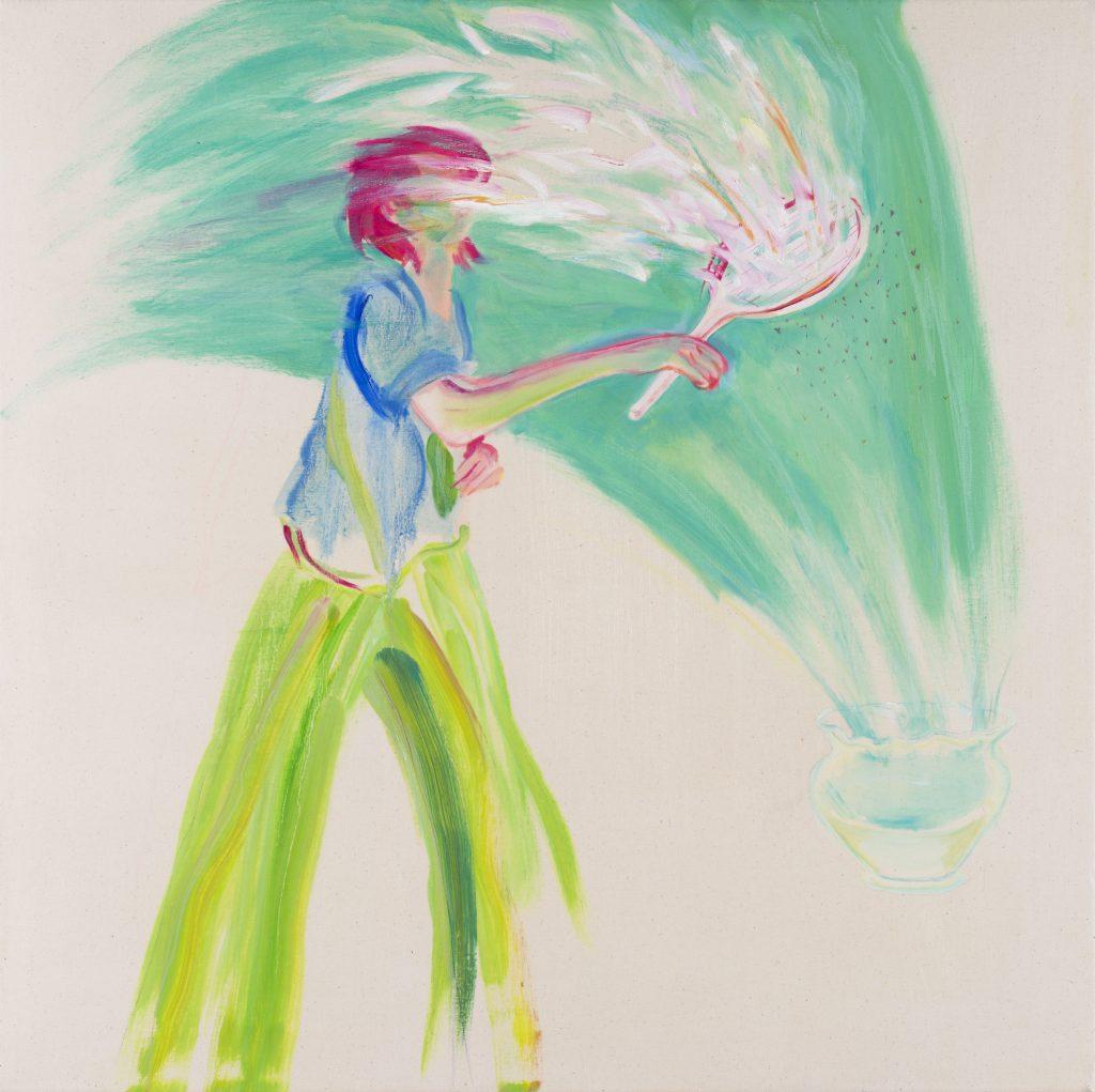 Hyun Jeong, 2020, Phwaaa, oil on canvas, 80x80 cm