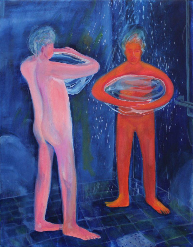 Hyun Jeong, 2021, Shower, oil on canvas, 90x70 cm
