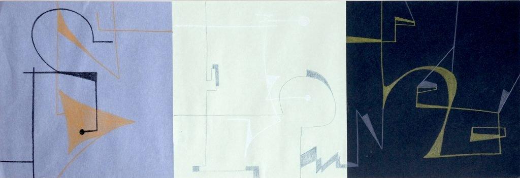 Luis Traxler, 2, 2020, Buntstift auf ungleichartiges Papier, 20x80cm