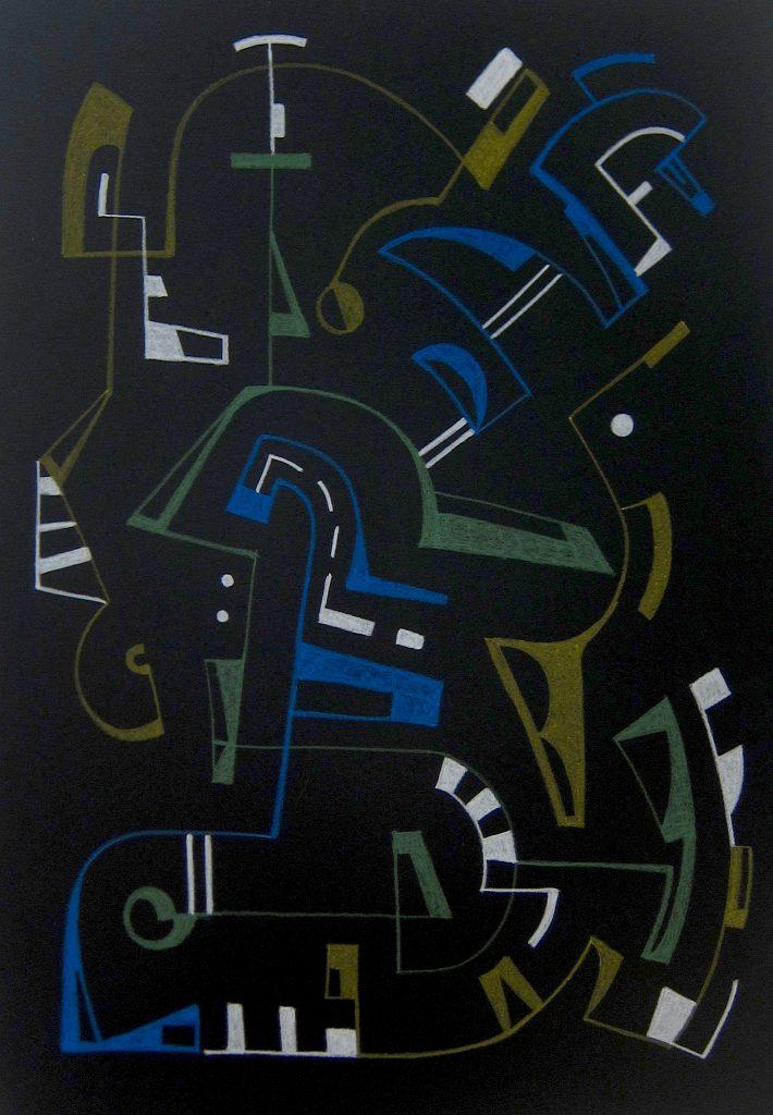 Luis Traxler, Die Crew, 2021, 70x100cm