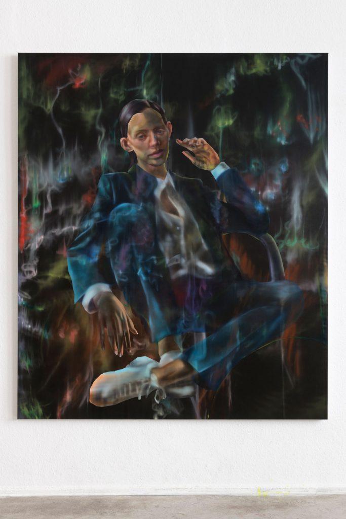 Rute Merk, Linet, 2021, Öl auf Leinwand, 200 × 180 cm