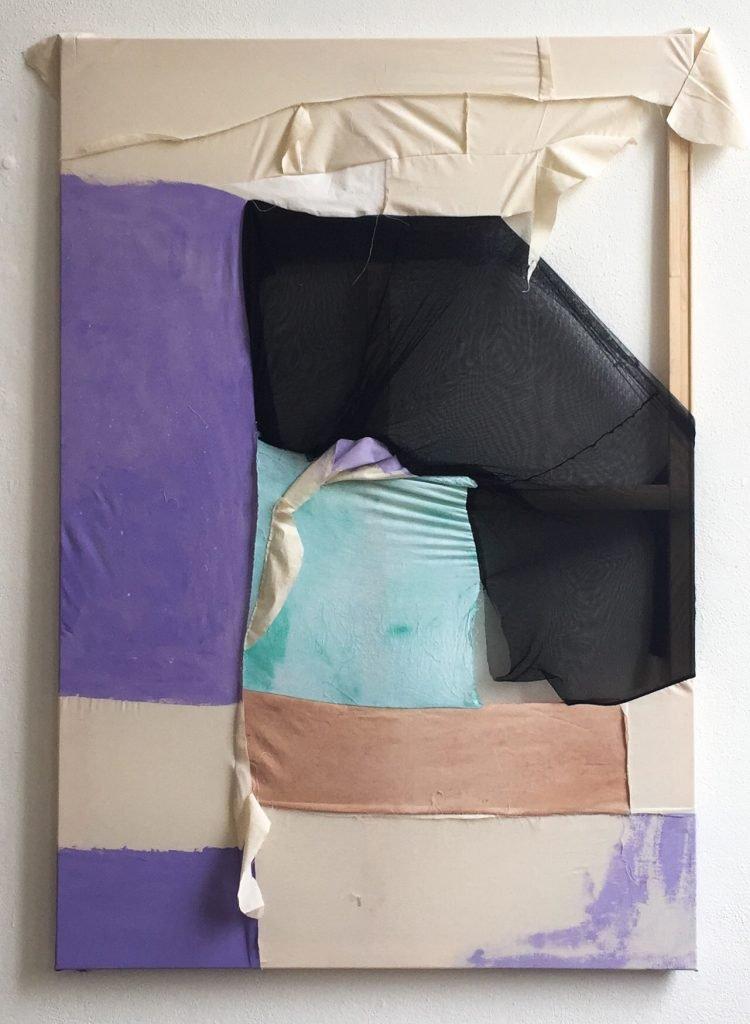 Tabata von der Locht, Team, 2021, vernähtes und bemaltes Textil, 110 x 160 cm