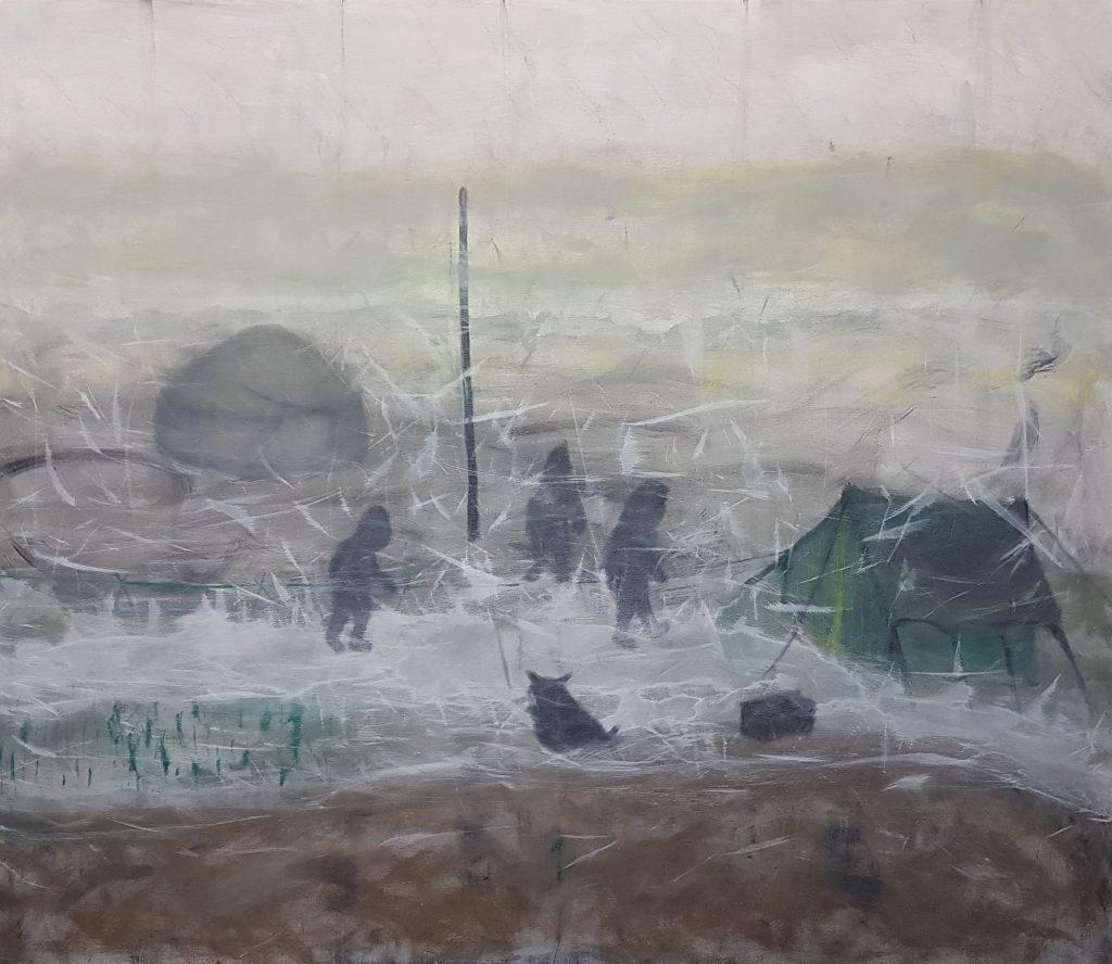 Stefan Krausen, o. T., 2020, Öl, Acryl auf Leinwand, 96×116cm