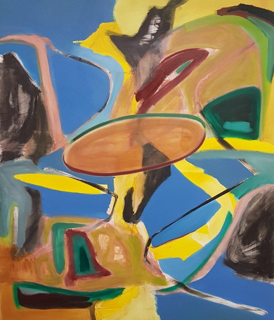 Stefan Krausen, o.T., 2021, Öl auf Leinwand, 120×140cm