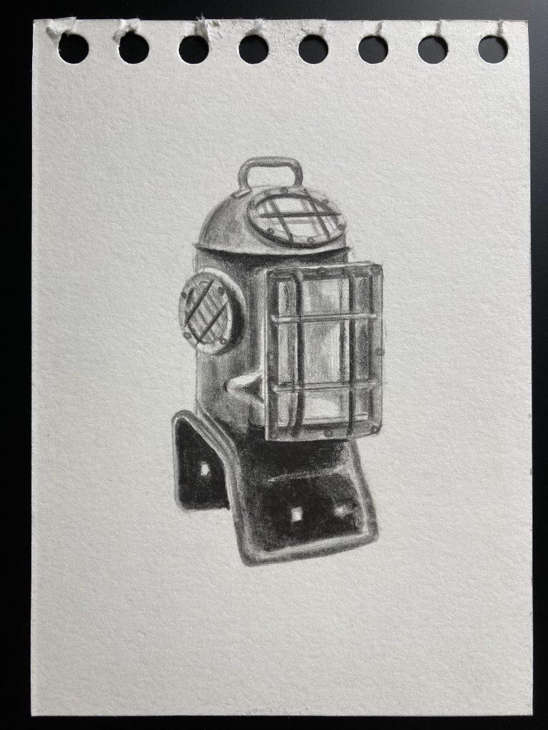 von Aniko für Dorina: o.T., 2021, 10,5x14,7 cm, Bleistift auf Papier