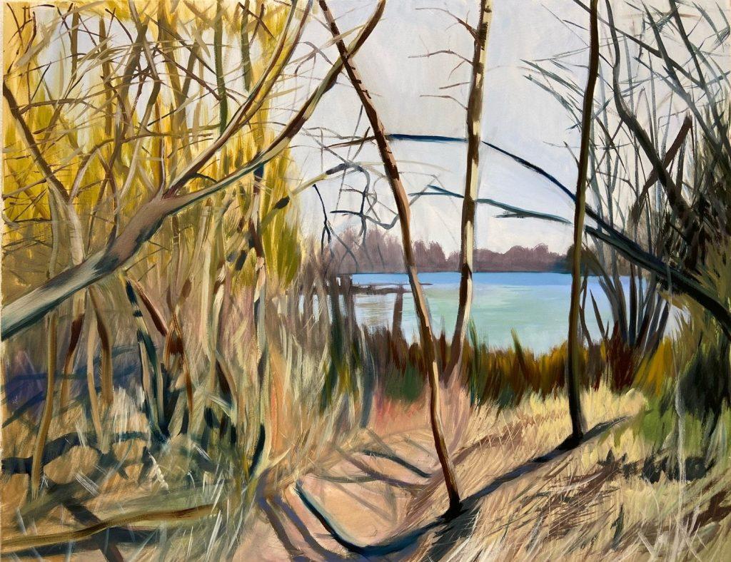 Burcu Bilgiç, From outside to inward, 2020 Öl auf Leinwand, 80 x 120 cm