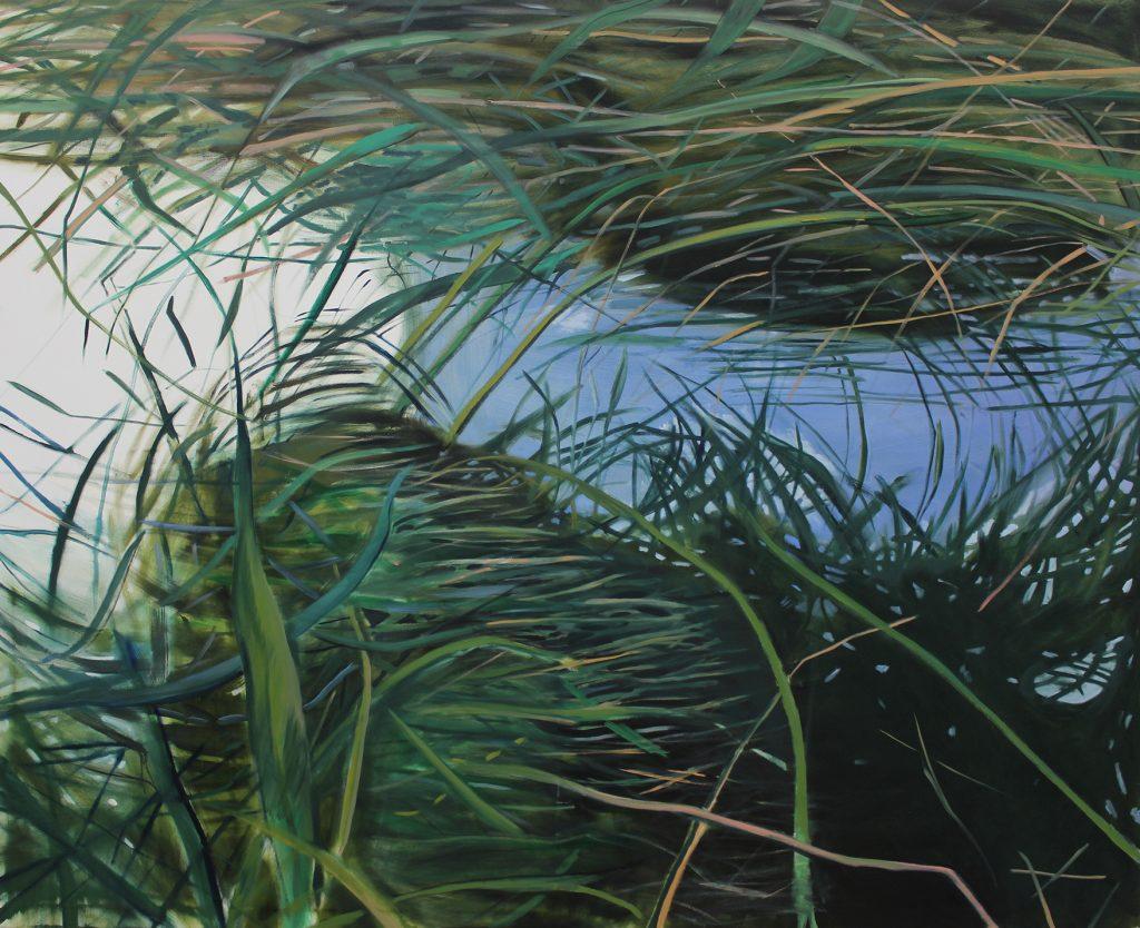 Burcu Bilgiç, Twisted, 2020, Öl auf Leinwand 150 x 180 cm